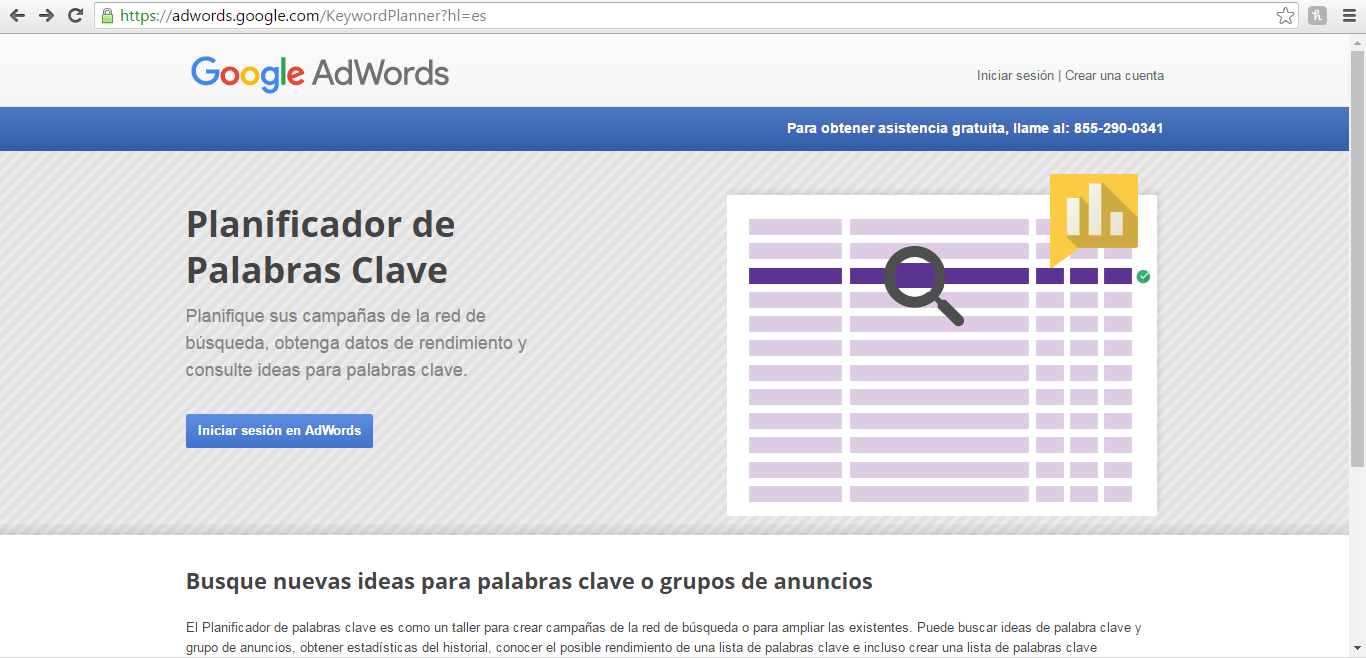 Pasos para usar keyword planner tool y obtener mejores palabras clave