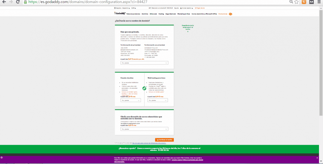 dónde comprar un dominio web barato