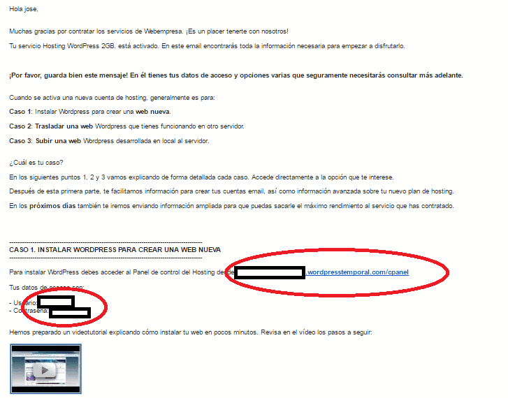 Hosting proveedor webempresa
