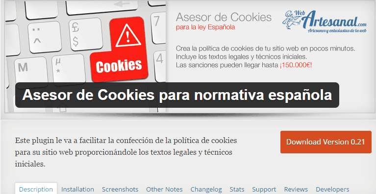 Asesor de cookies