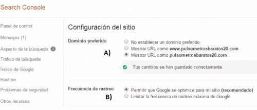 configuración de sitio search console paso a paso