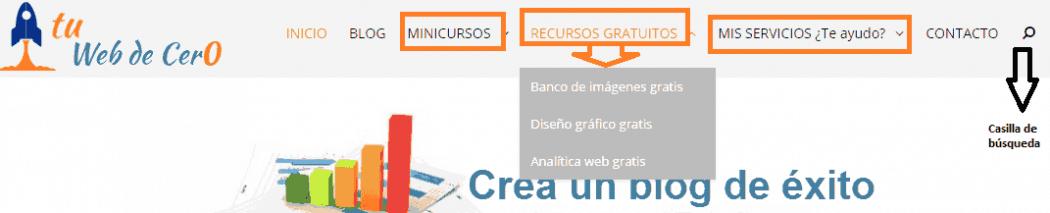 Páginas y categorías para crear una web de éxito