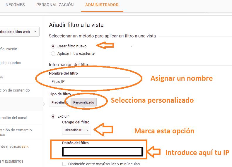 Metodo 2 filtrar dirección ip