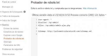 probador del robot.txt