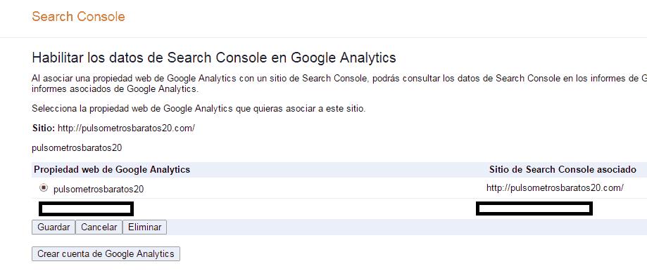 Propiedad de google analytics