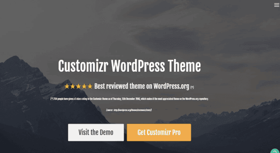 customizr tema wordpress con alternativa de pago