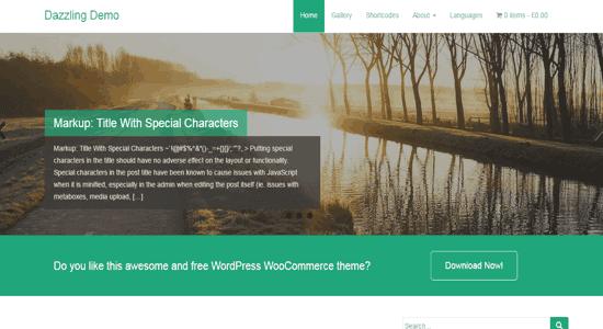 dazzling wordpress tema free