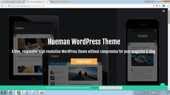 hueman tema wordpress gratis