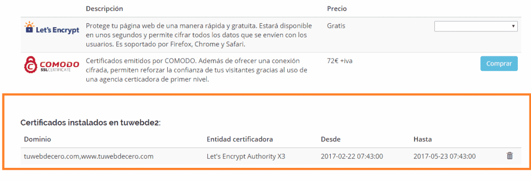 inslalar ssl certificadol permite cifrar