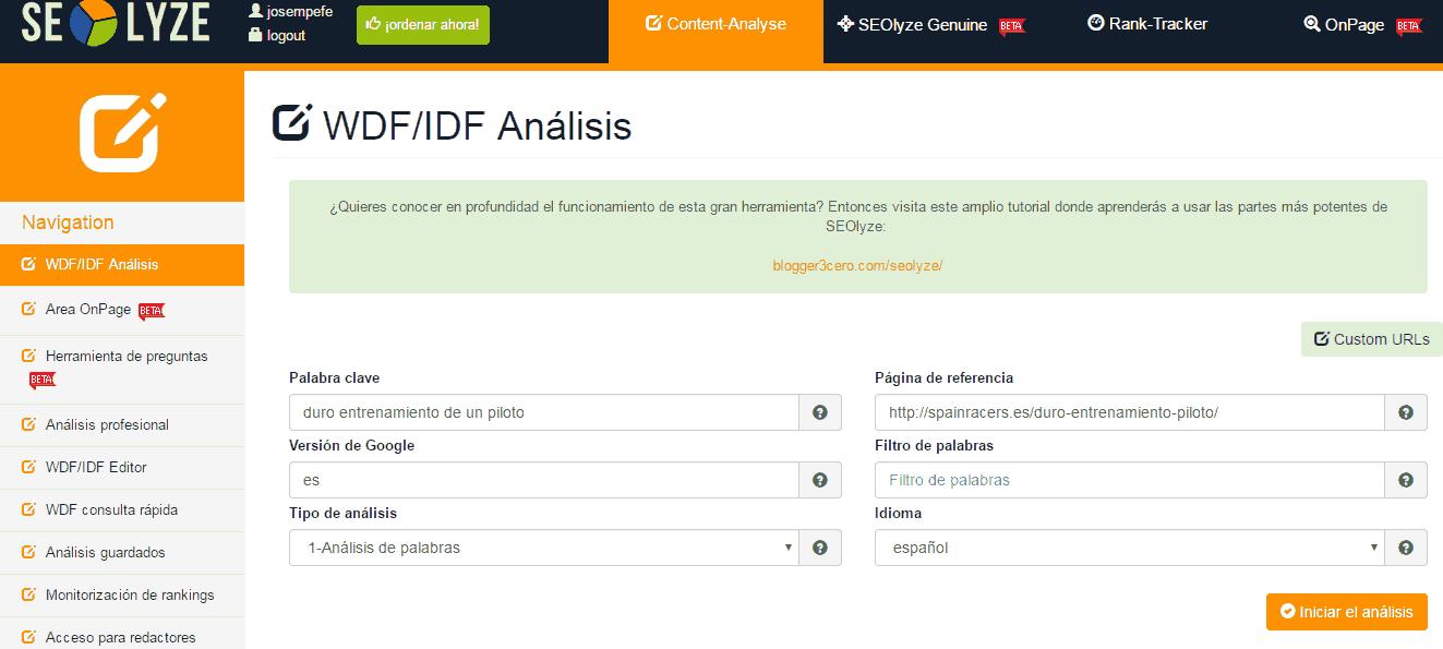 wdfidf seolyze despues de post