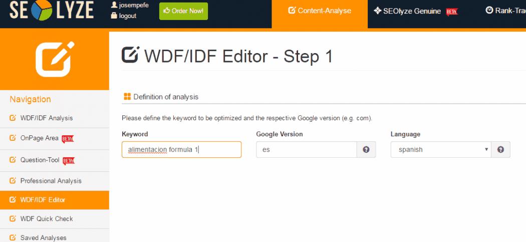 wdf idf editor antes o durante post seolyze
