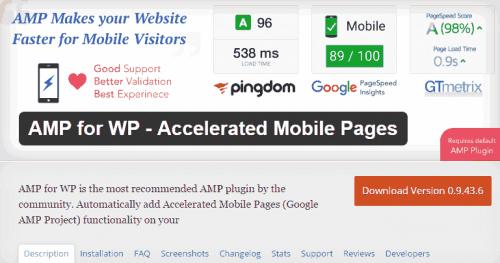 instalación del plugin amp for Wp