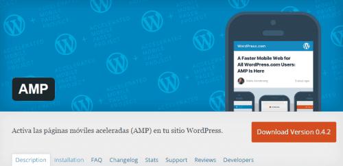 instalacion de plugin amp en wordpress
