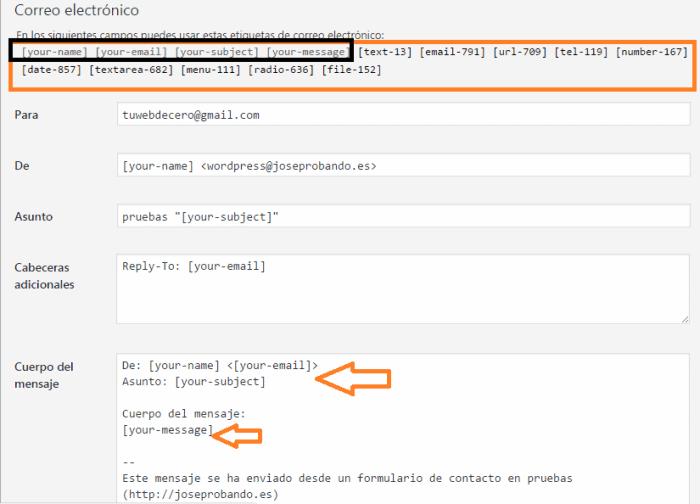 opcion correo electronico