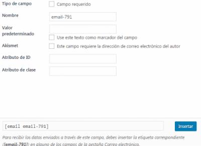 correo electronico opcion formulario tutorial contact form 7