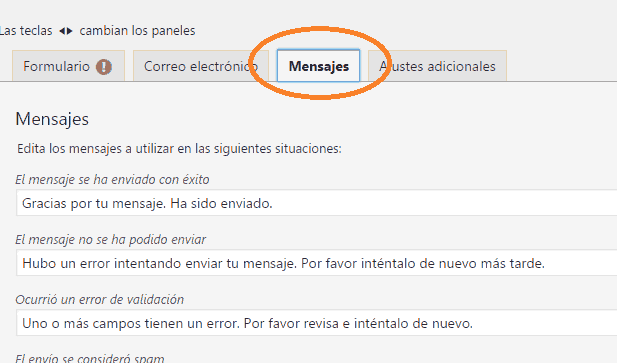 mensajes form 7