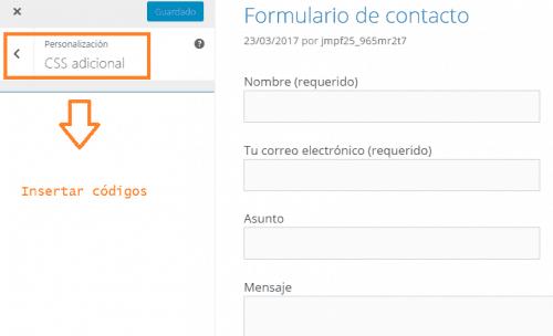 Personalización sencilla del formulario de contacto con CSS