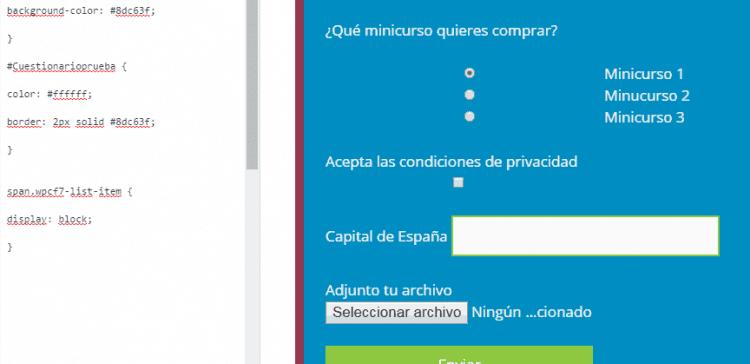 personalizacion verticalm de botones del formulario