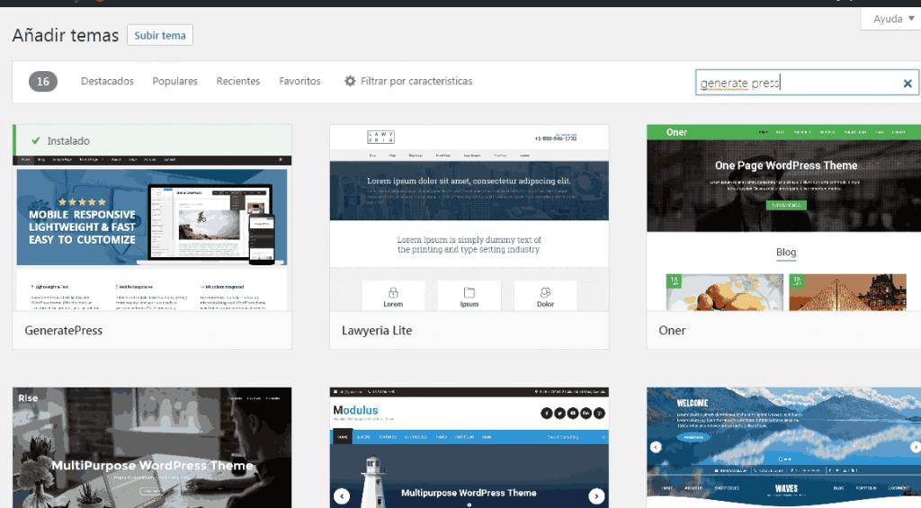 Generate Press la mejor Plantilla WordPress en la actualidad