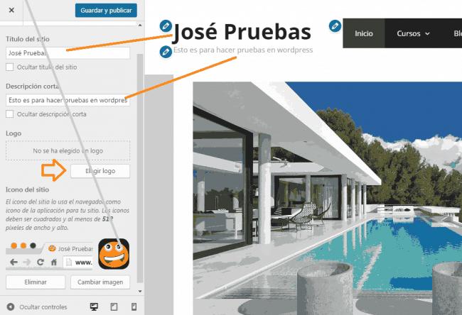 identidad del sitio generate press tutorial