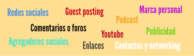 promocionar y difundir el contenido del blog