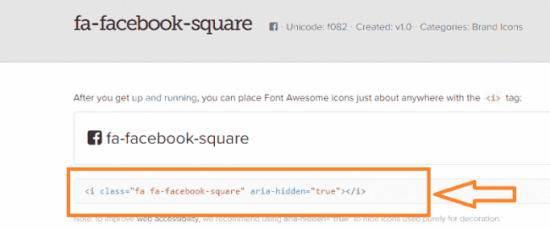 Usar FontAwesome para insertar iconos