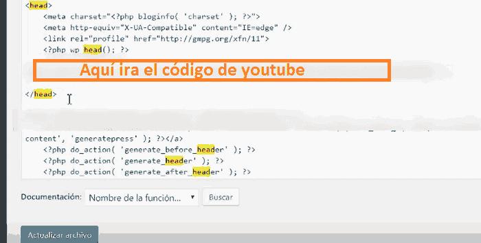 codigo de youtube