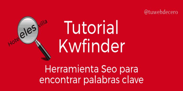 tutorial kwfinder para encontrar palabras clave